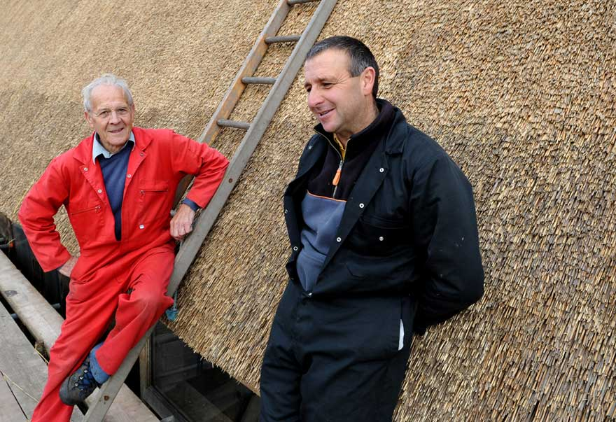 Peter and David Rackham at Grove Farm in 2012