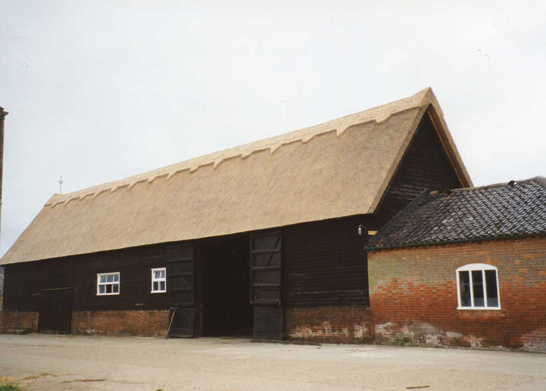 Thatched barn on the Benacre Estate