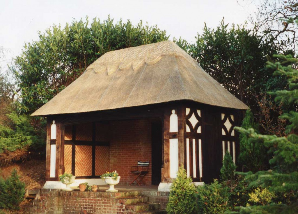 Thatched shelter in Oulton Broad